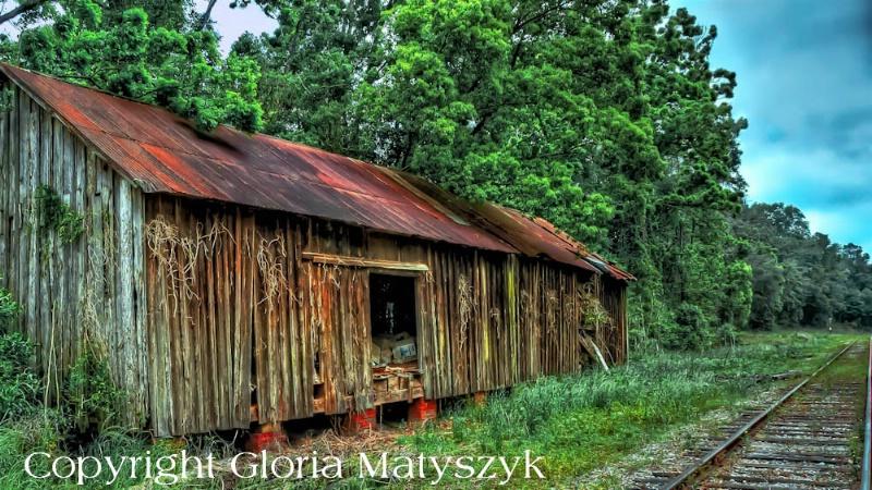 Abandoned railroad barn, Georgia