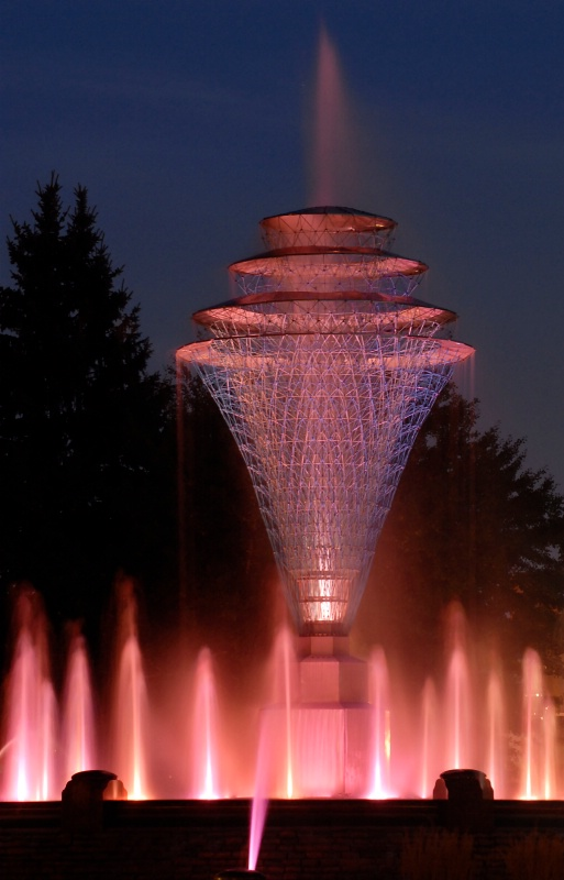 Fountain in Pink