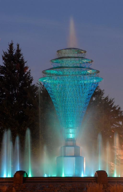 Fountain in Aqua