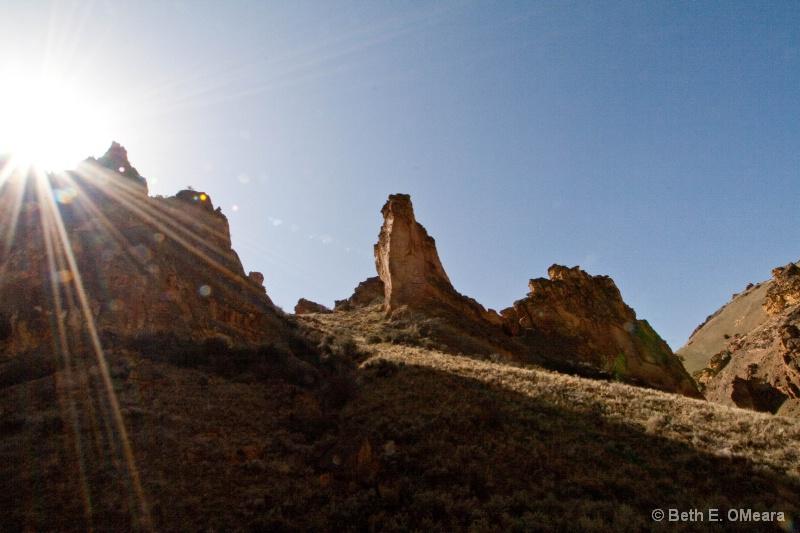 Rocks in the Owyhees - Sun