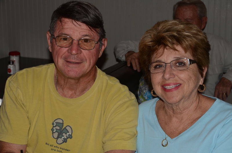 SUSAN AND EUGENE LEMOINE AT REXHALL'S.