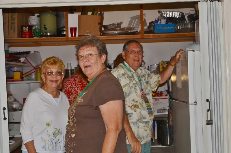 HOSTESS MARTHA GETS HELP IN THE KITCHEN