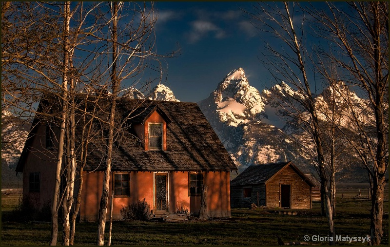 Farmhouse at Mormmon Row,Grand Teton National Park