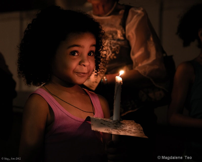 Girl with Candle