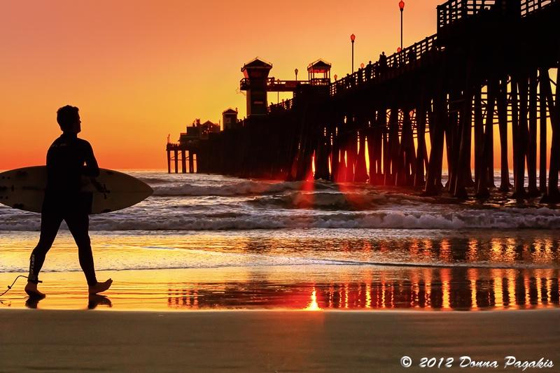Surf Session at Sunset