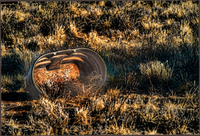 Water tub in the grass - Arizona