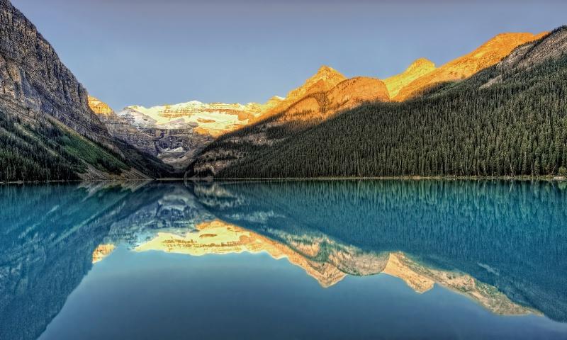 Morning Light on Lake Louise