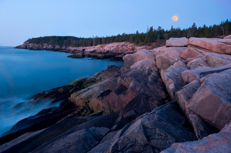 Moon over Acadia