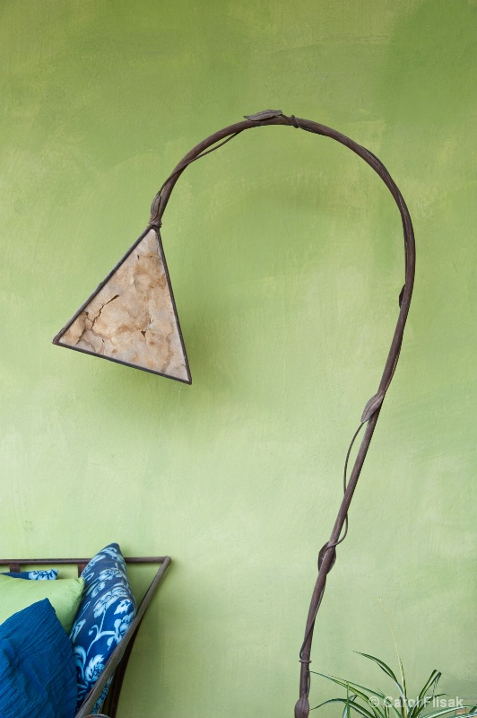 A Gracefully Curved Lamp
