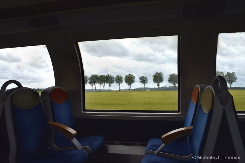 On The Bullet Train In France !