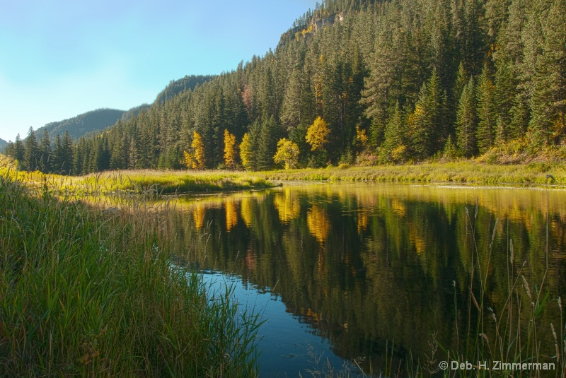 Oct. Morning Calm in Spearfish Canyon
