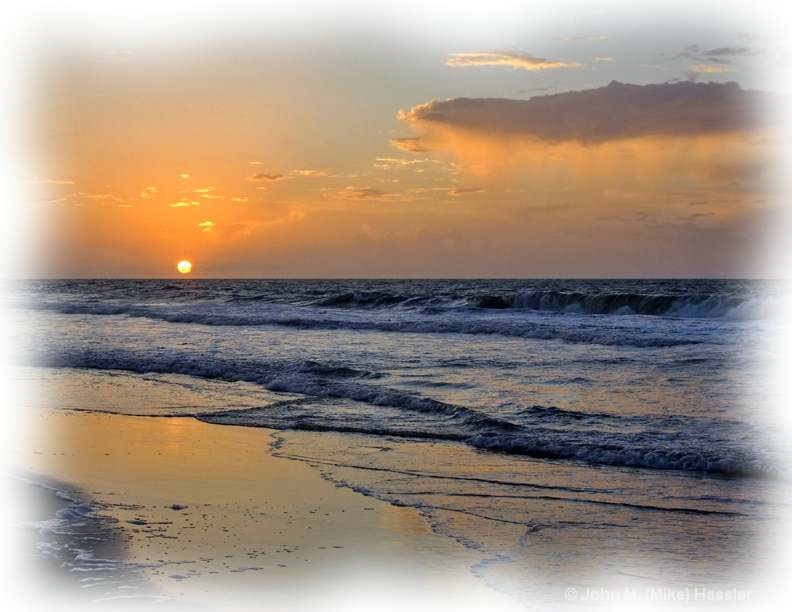 Sunrise on Surfside Beach