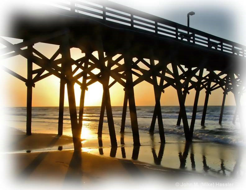 Surfside Sunrise under the Pier
