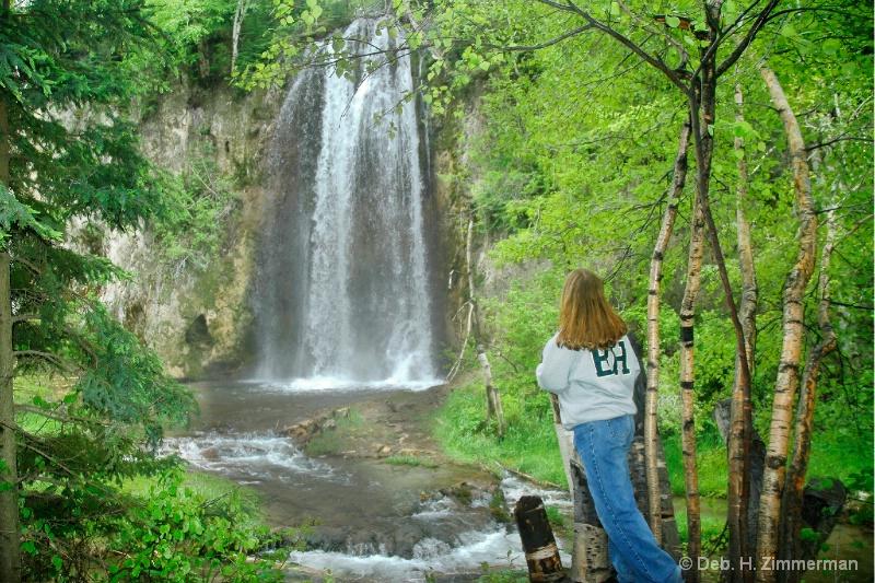 Sarah at Lil Spearfish Falls