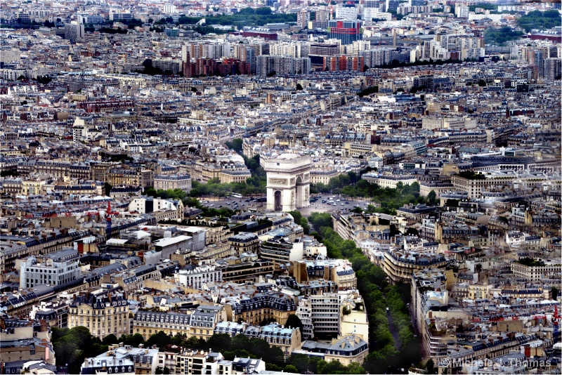 Arc de Triomphe,As Seen Atop The Eiffel Tower