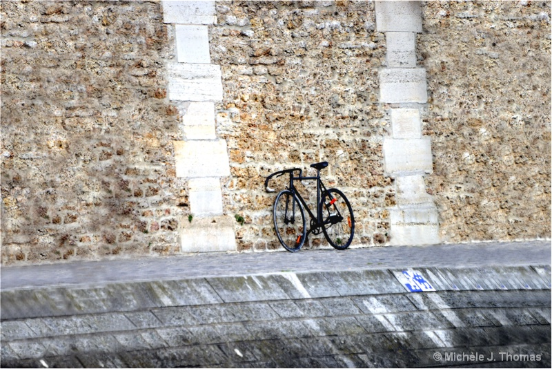 Parked His Bike, Right Above The Seine !