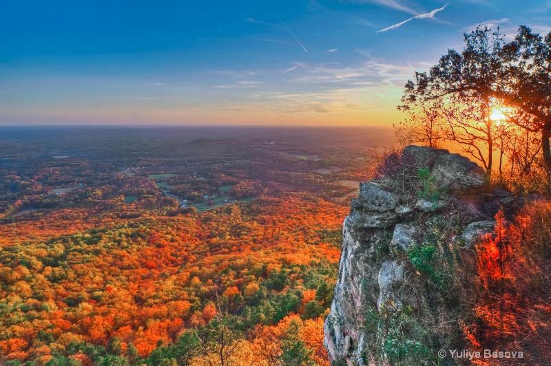 Sunset from Pilot Mountain, NC<p>