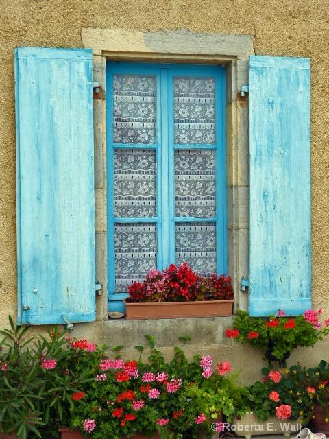 shuttered window