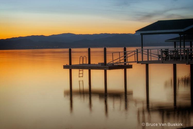 dock in the morning