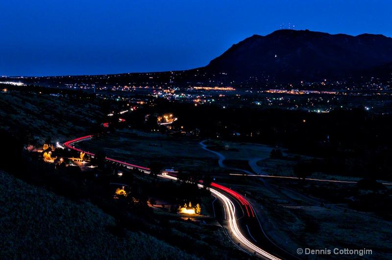 Cheyenne Mountain at Twilight