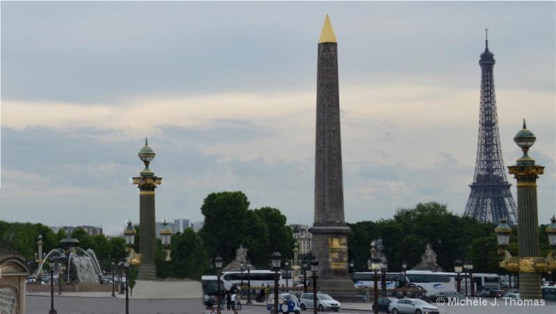 Obelisk, At Place de la Concorde, & Eiffel T