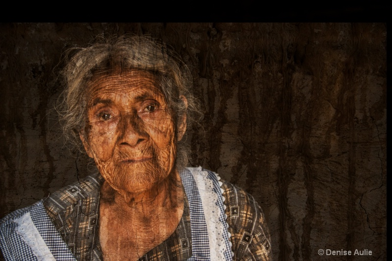 Elderly Woman with Texture