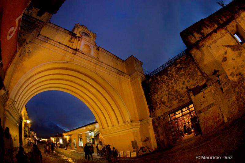 Antigua's Arch at Night