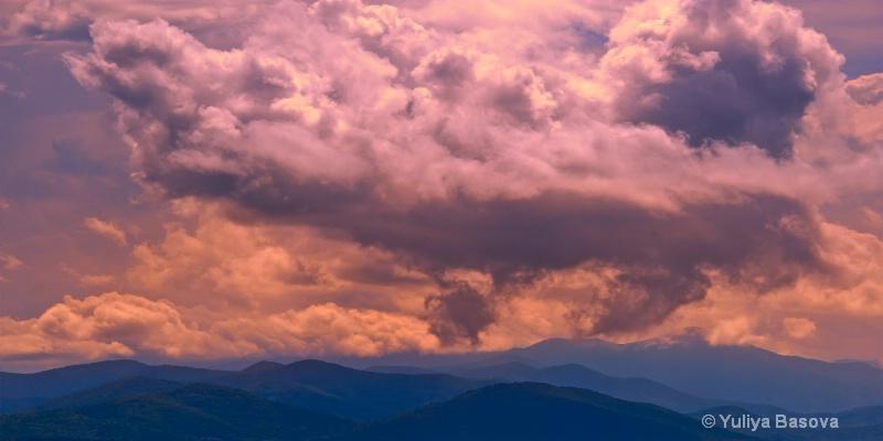 The  Blue Ridge Under a Cloudy Caress, NC