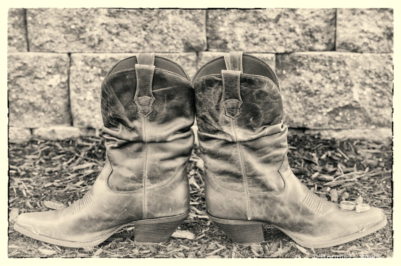 wedding rings and boots  1 of 1