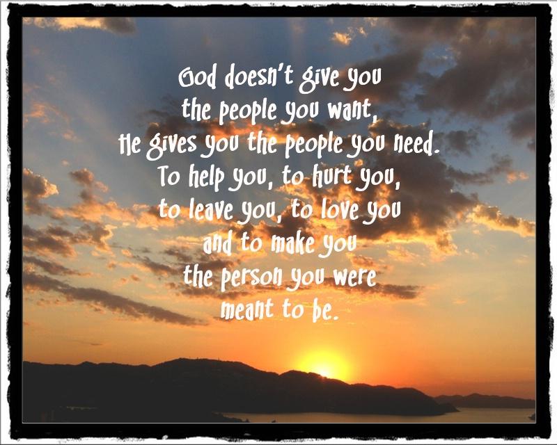 god gives you