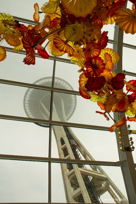 Space Needle from the Chihuly Glass Museum