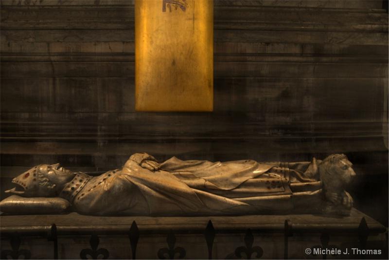 A Sarcaphagus in Notre Dame ,Paris