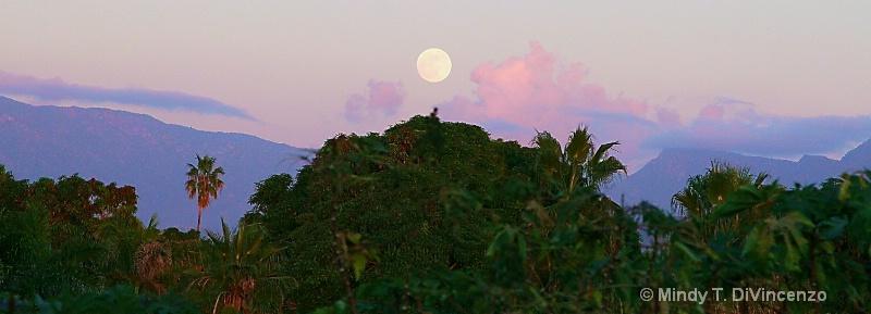 Full Moon Rising over Pescadero