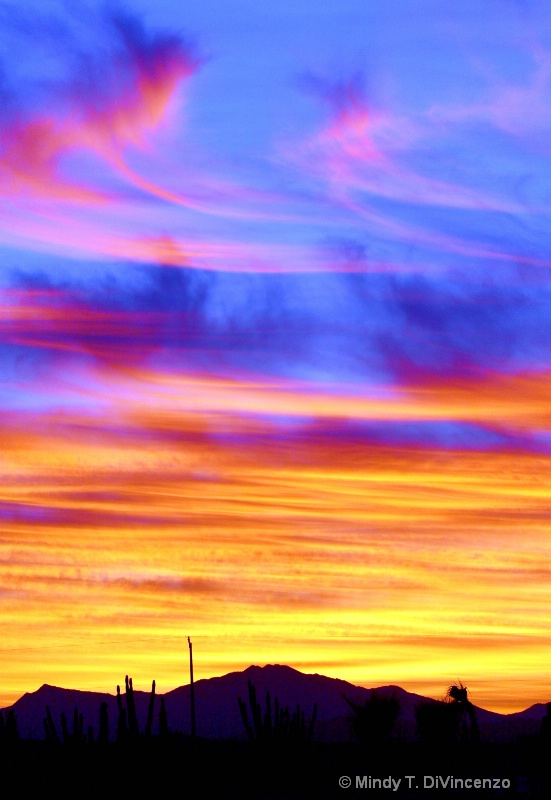 Baja Sunrise over the mountains