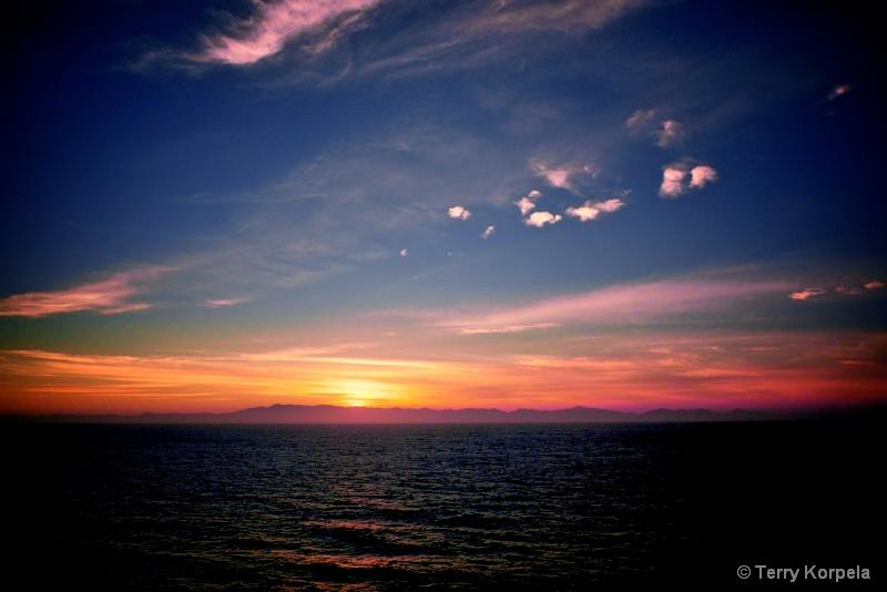 sunrise off the coast of Mexico