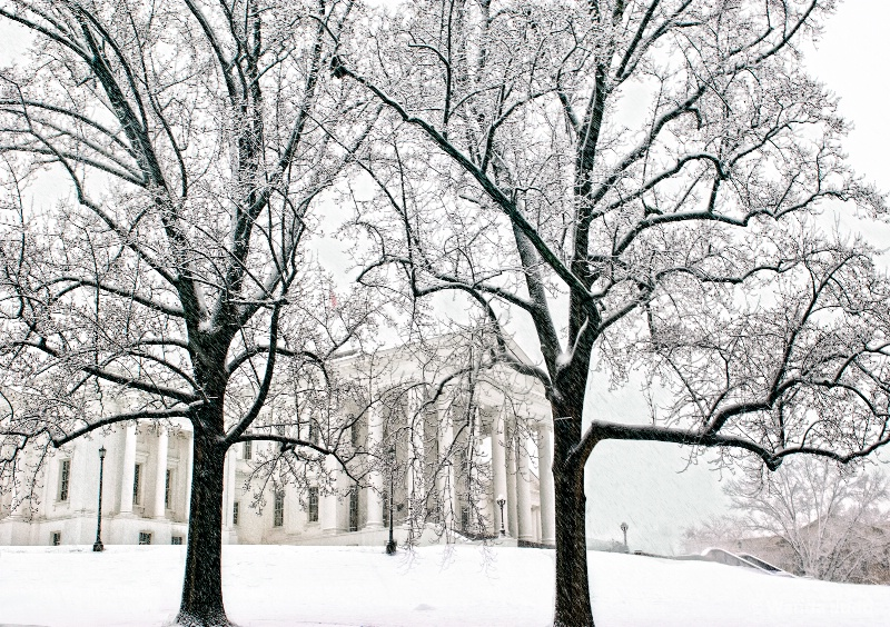 Virginia State Capitol in Snow