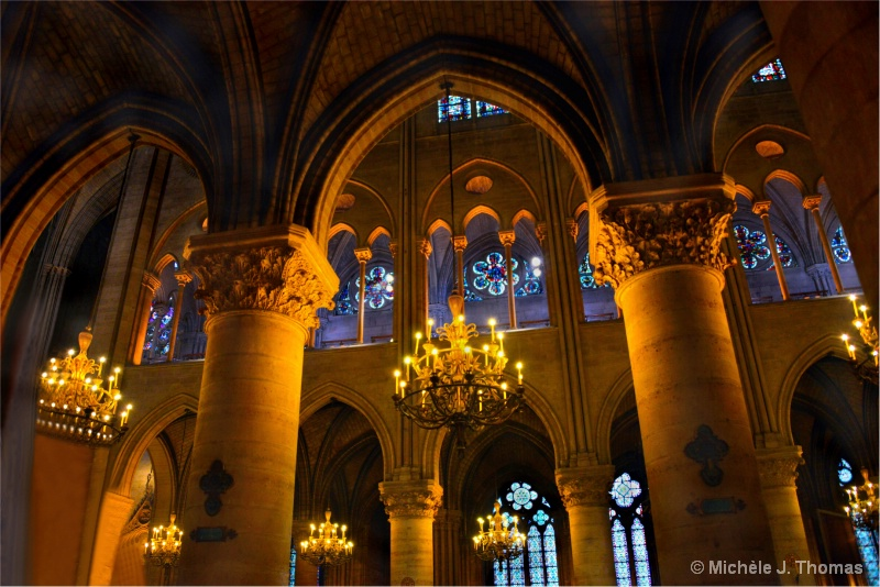 Inside Notre Dame Cathedral, Paris !