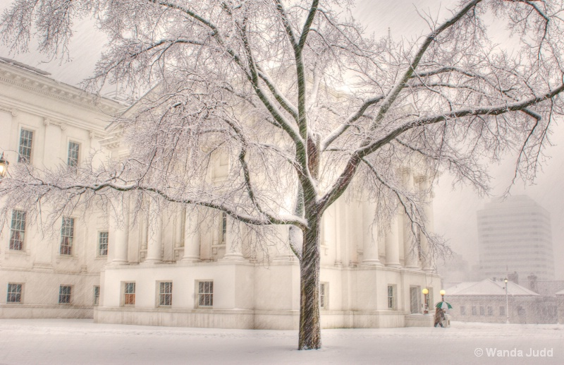 Virginia State Capitol in Snow II