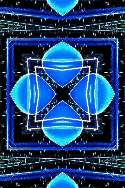 Blue Glass -- Fractalius + Kaleidoscope