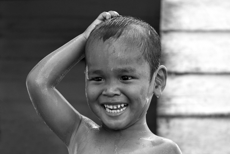 Child having Bath @ Bintan Indonesia