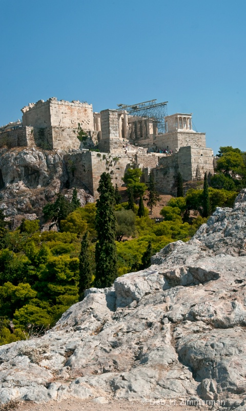 Acropolis from Areopagus (Mars) Hill