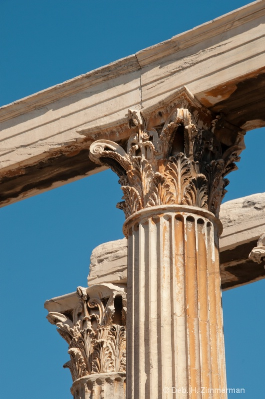 Corinthian Columns in the August Morning Light