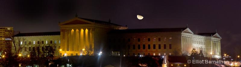 Moonrise over Philadelphia