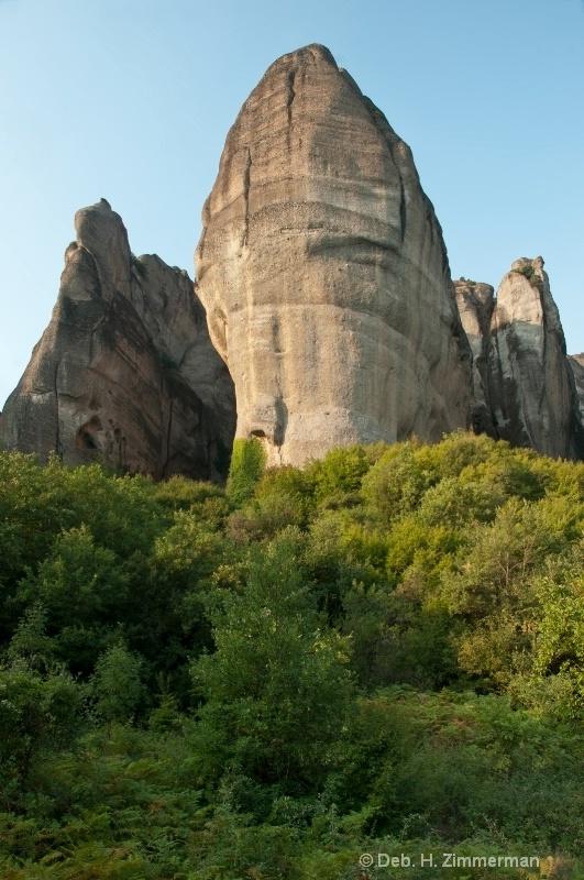 Limestone Pinnacles Rising Up
