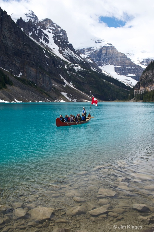 Canoe Excursion on Lake Louise