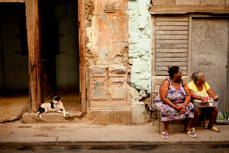 Two Ladies with a Dog, Havana