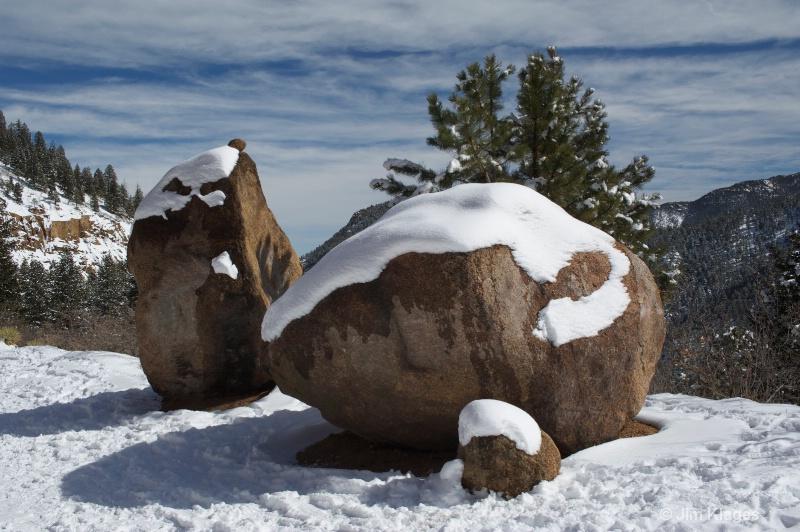Boulders Along Gold Camp Road
