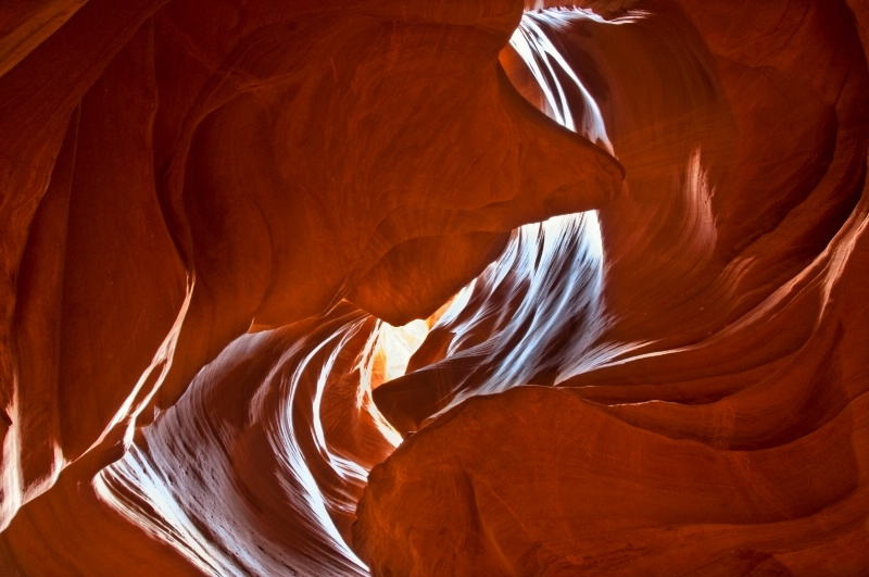Whirlpooling Sunlight in Antelope Canyon