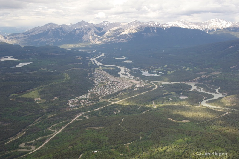 View from the top of the Jasper Tramway