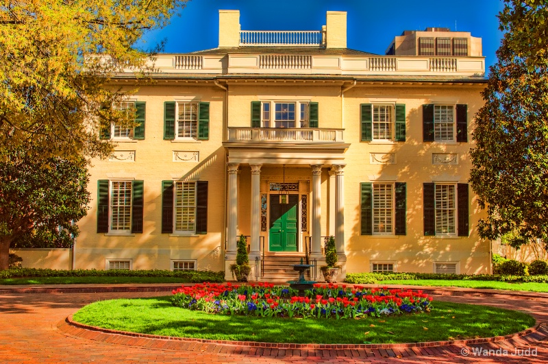 Governors Mansion in Spring